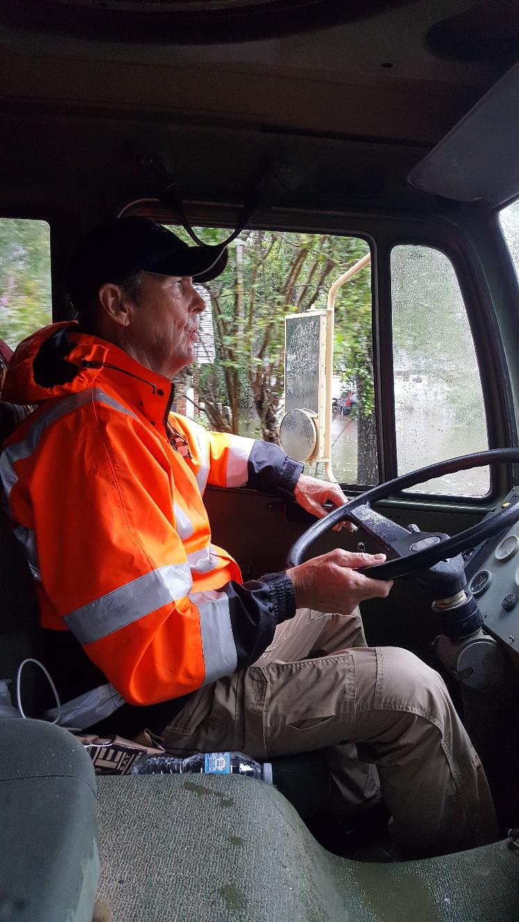 Dickinson, Alan R driving LMTV